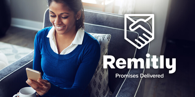 "Remitlys slogan: ""Promises Delivered"""